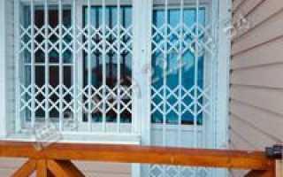 Раздвижные решетки на окна для дачи