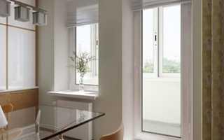 Установка балконной двери из ПВХ