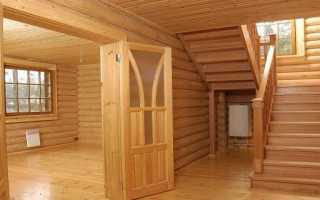 Наличники на окна внутри деревянного дома