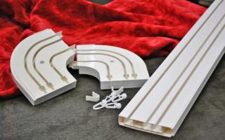 Как крепятся потолочные карнизы для штор